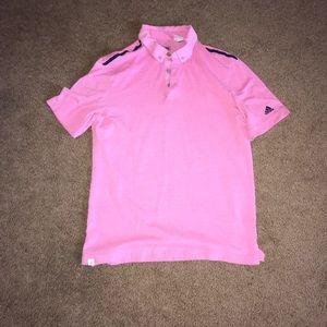 Men's pink adidas golf shirt